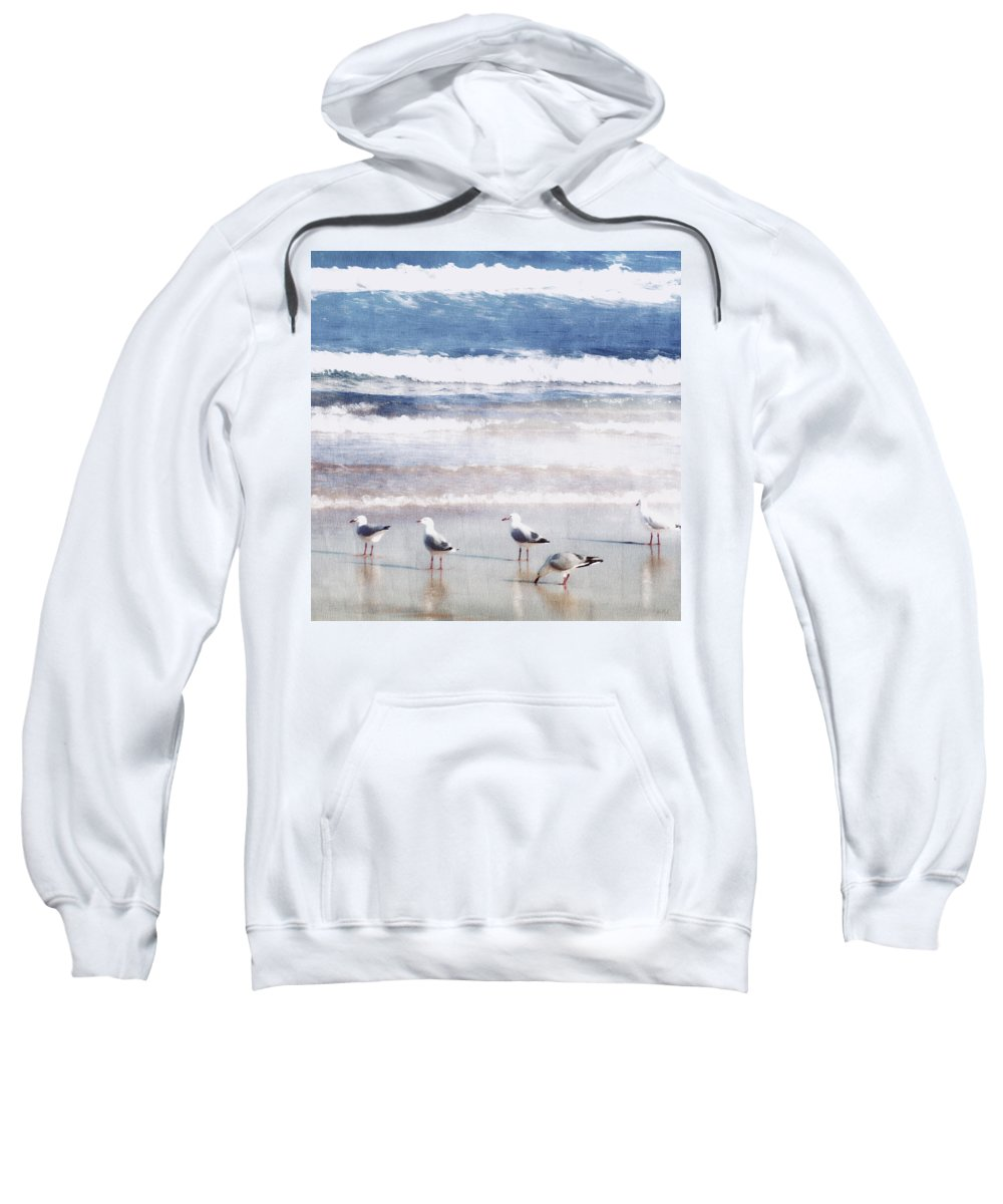 Landscapes Sweatshirt featuring the photograph Seaspray by Holly Kempe