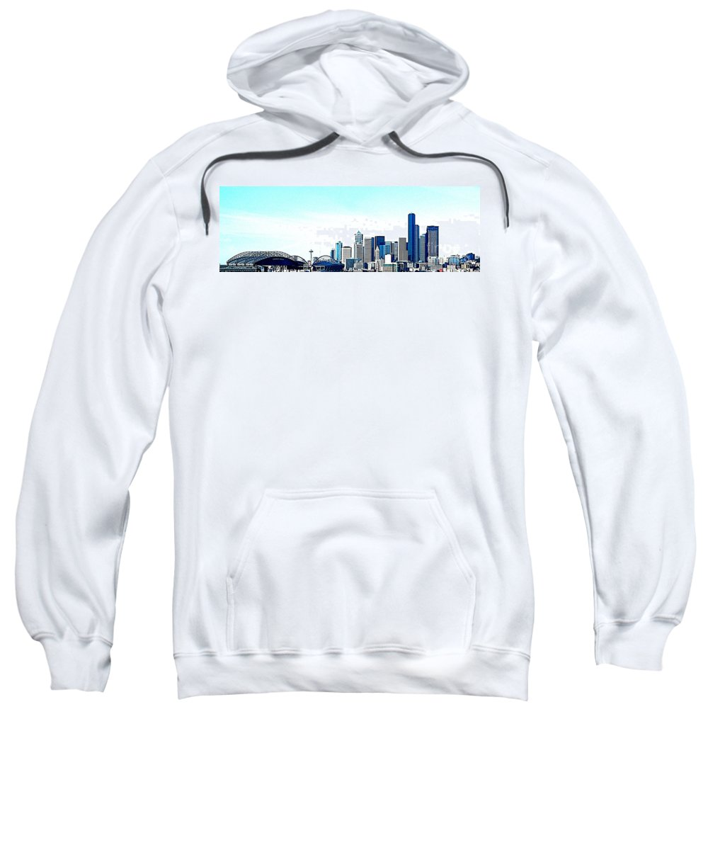 Seattle Sweatshirt featuring the photograph Seattle Blue by Nick Gustafson