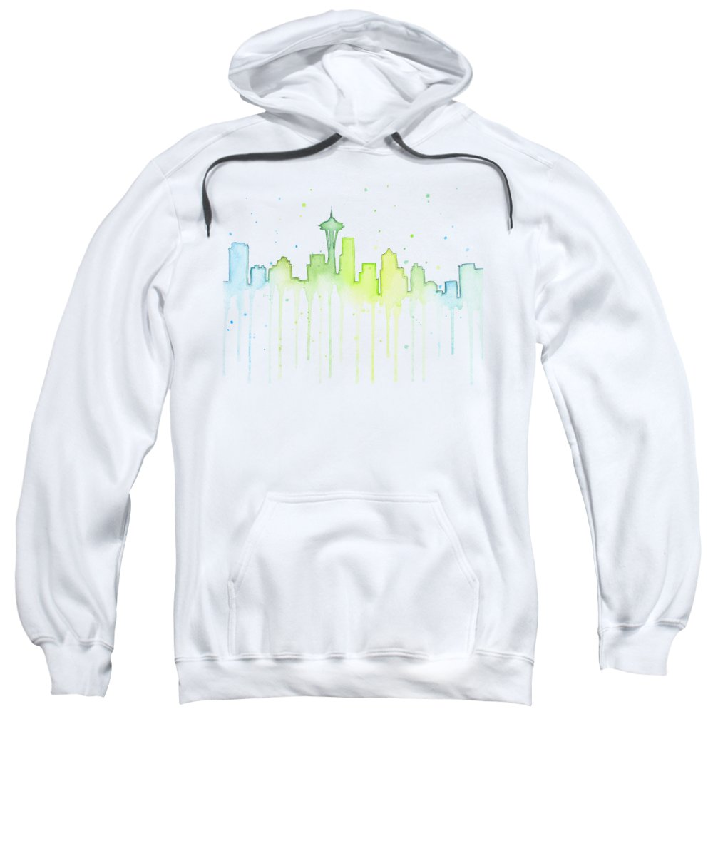 Seattle Skyline Hooded Sweatshirts T-Shirts