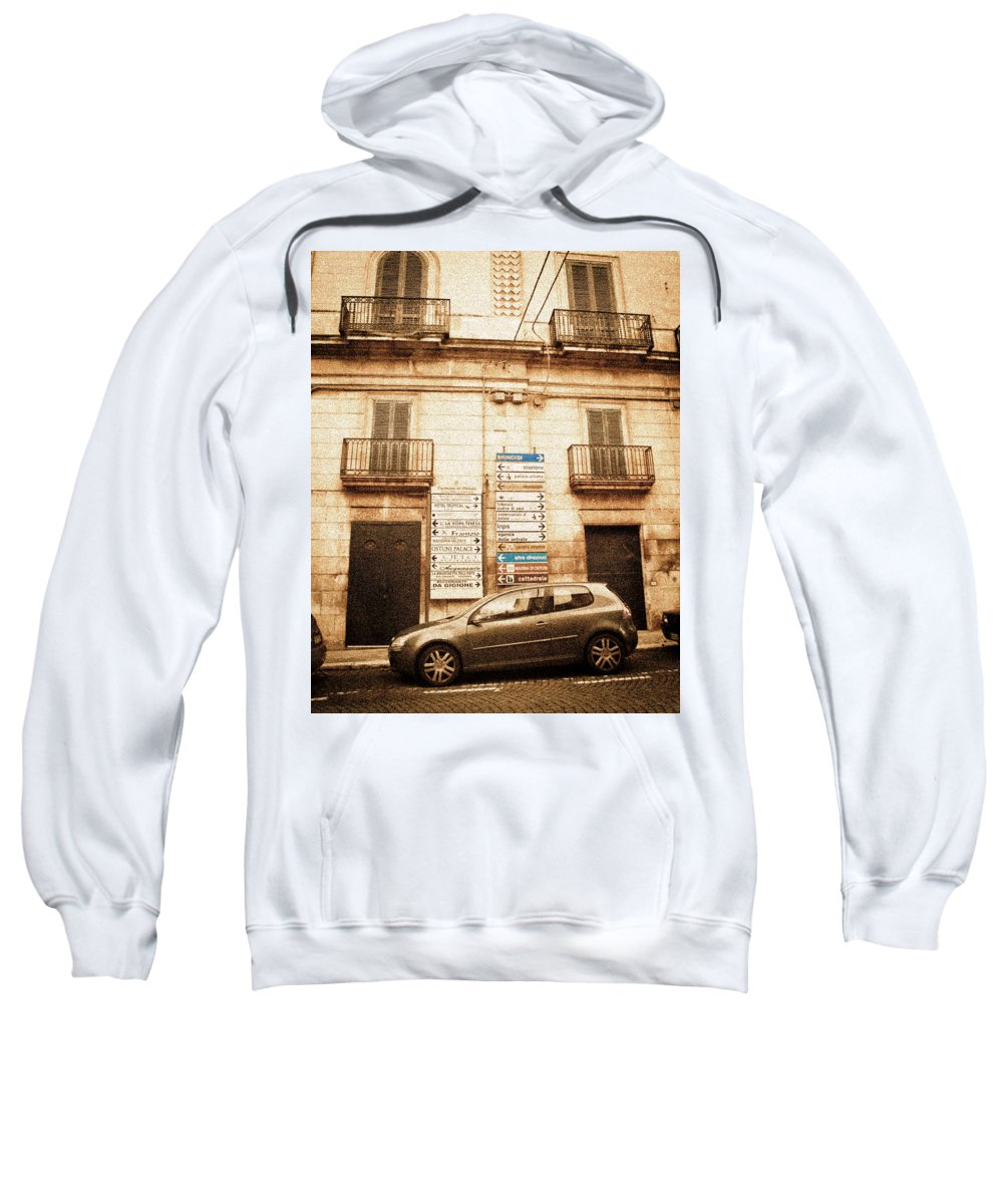 Architecture Sweatshirt featuring the photograph Segnali Stradali by Steven Myers