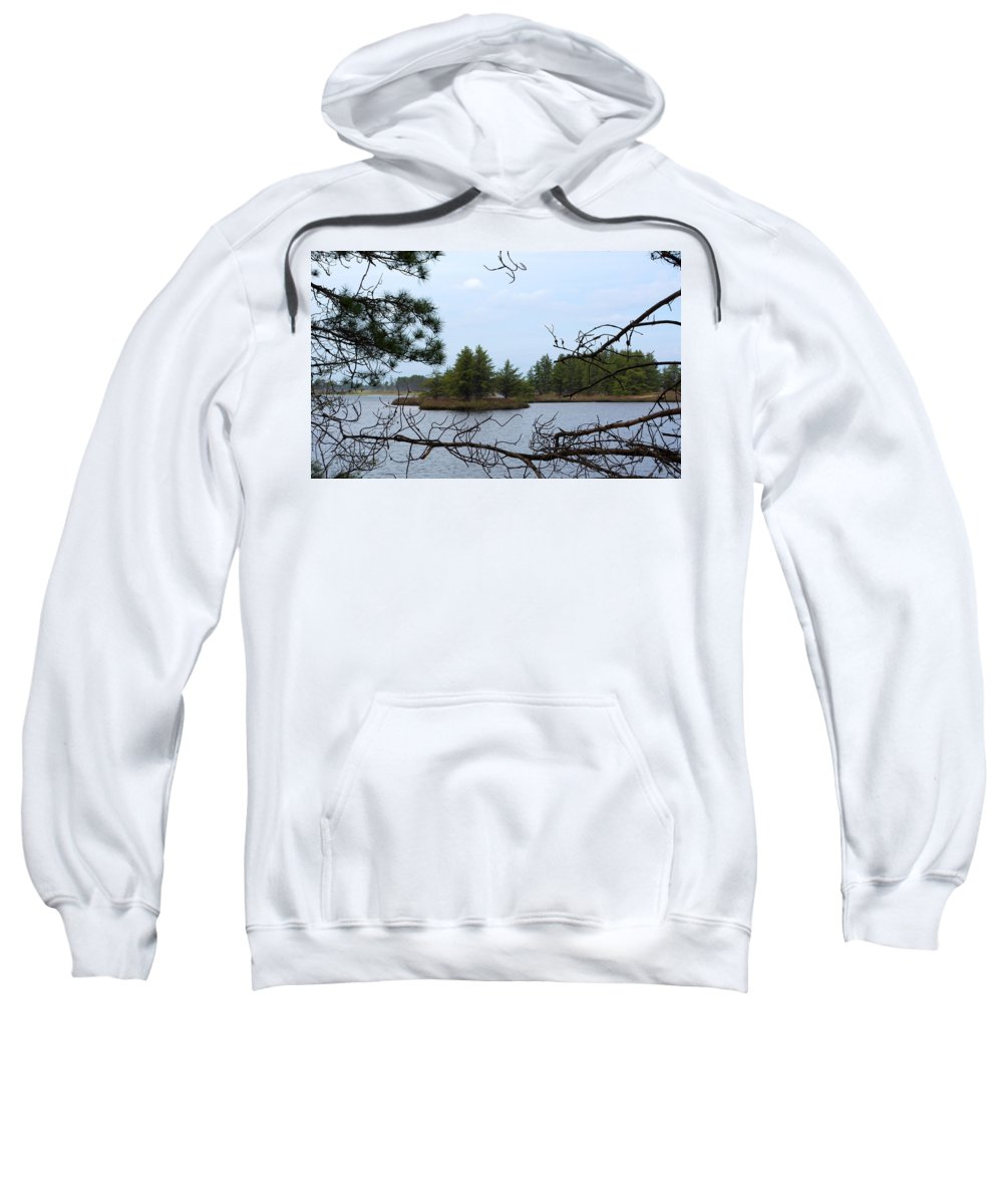 Seney Wetland Sweatshirt featuring the photograph Seney Islands by Linda Kerkau