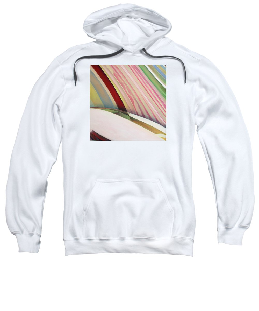 Abstract Sweatshirt featuring the painting Sens 1 by Muriel Dolemieux