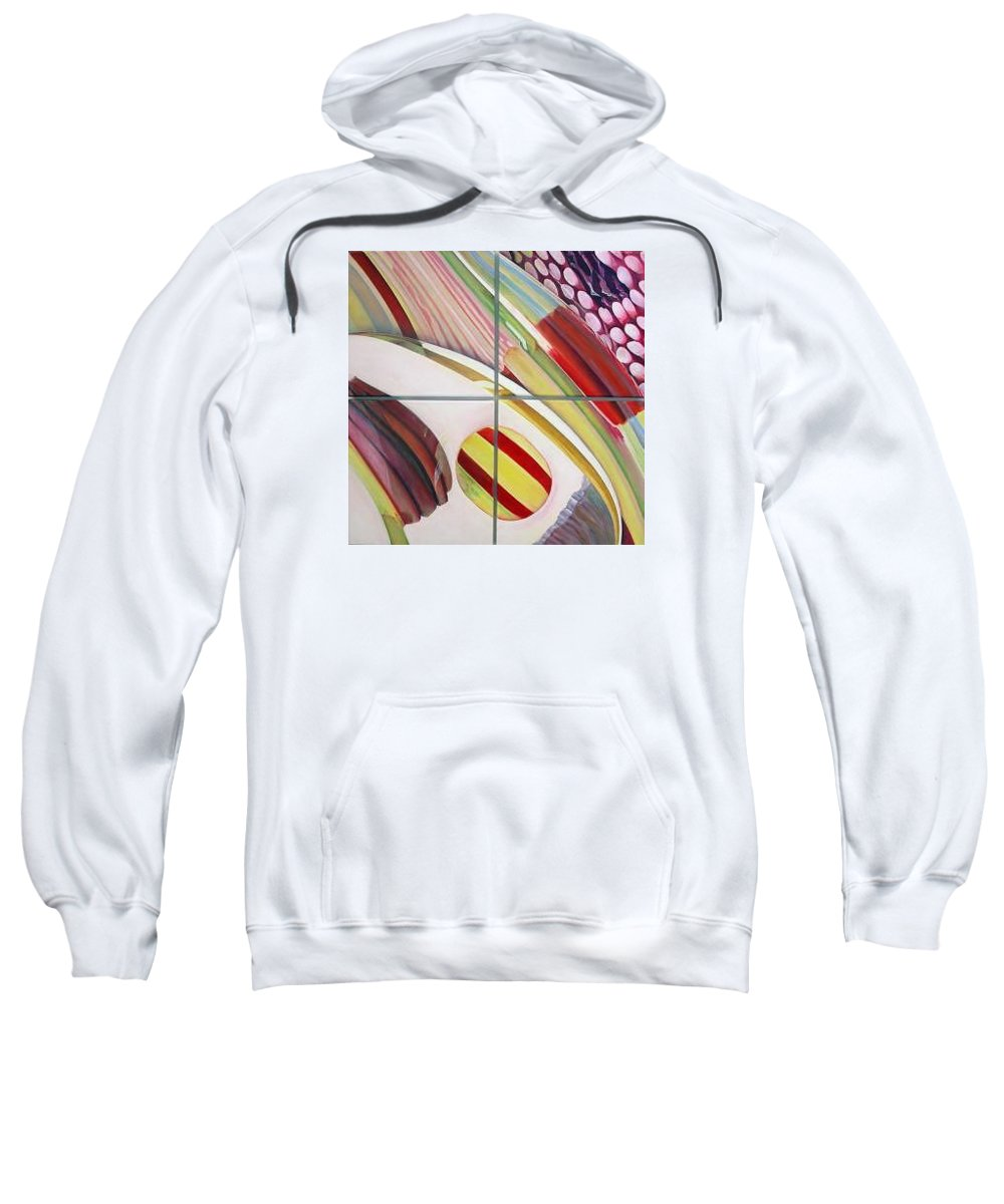 Abstract Sweatshirt featuring the painting Sens by Muriel Dolemieux