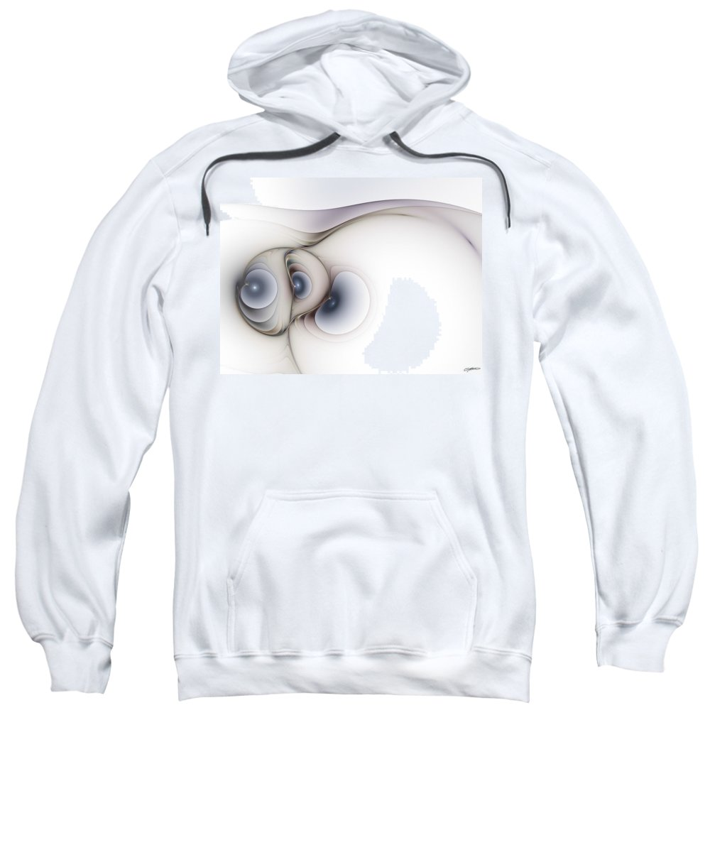 Abstract Sweatshirt featuring the digital art Sensual Manifestations by Casey Kotas