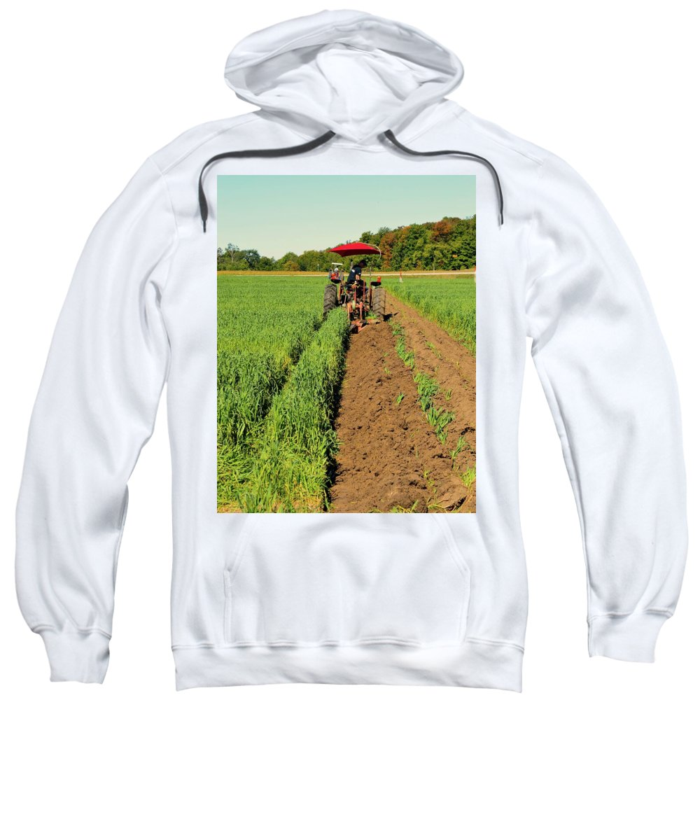 Farm Sweatshirt featuring the photograph September 20-2016 Plowing Match by Lyle Crump