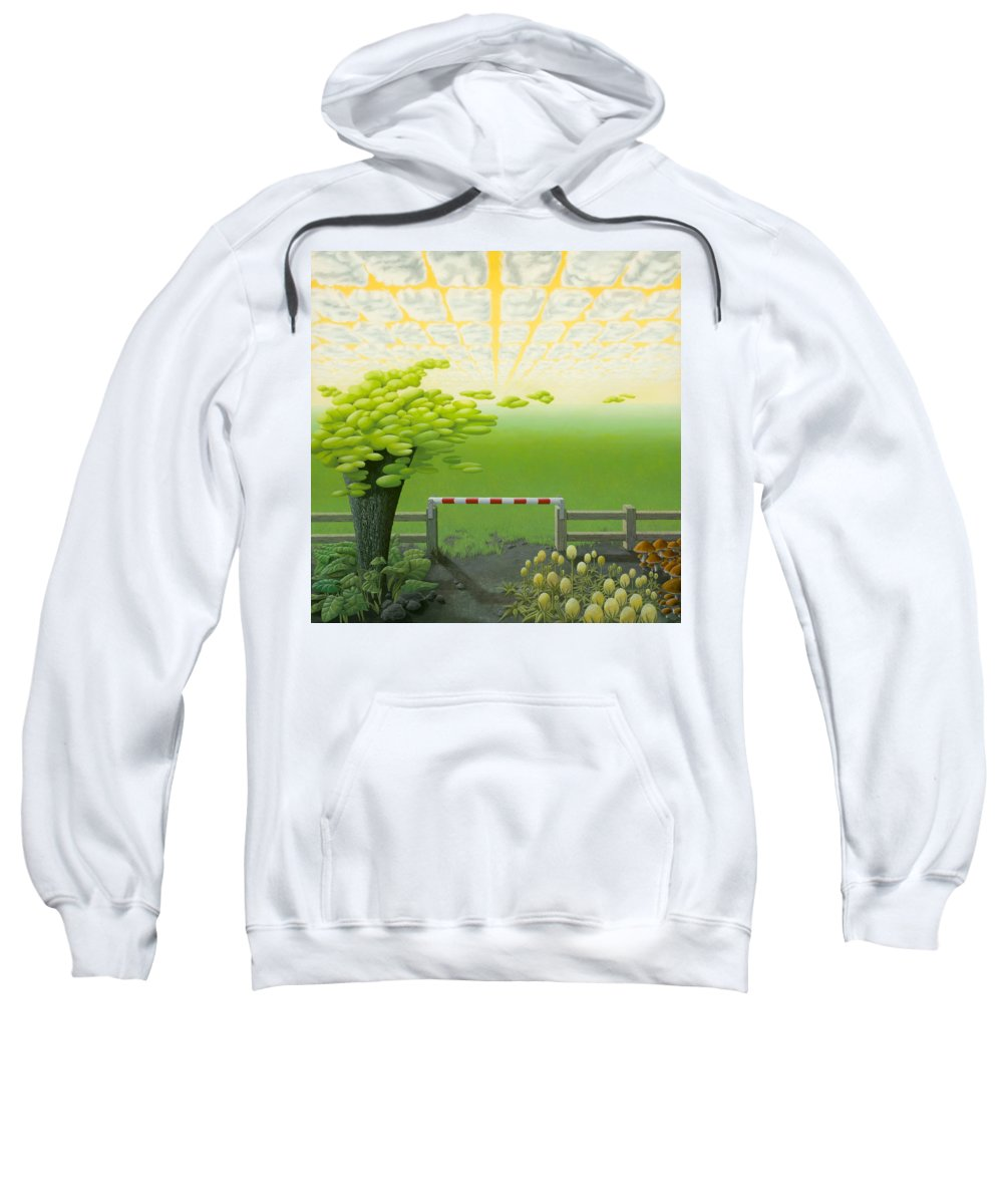 Tree Sweatshirt featuring the painting September by Patricia Van Lubeck