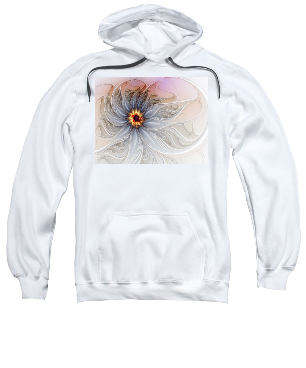 Digital Art Sweatshirt featuring the digital art Serenely Blue by Amanda Moore