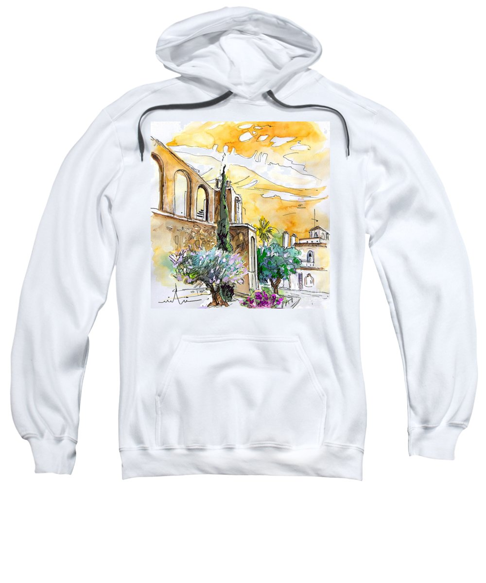 Portugal Paintings Sweatshirt featuring the painting Serpa Portugal 10 by Miki De Goodaboom