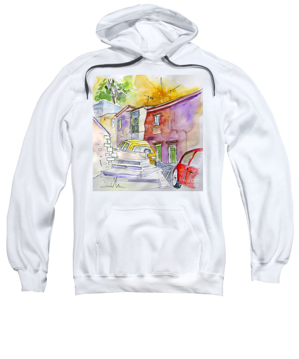 Portugal Paintings Sweatshirt featuring the painting Serpa Portugal 12 by Miki De Goodaboom