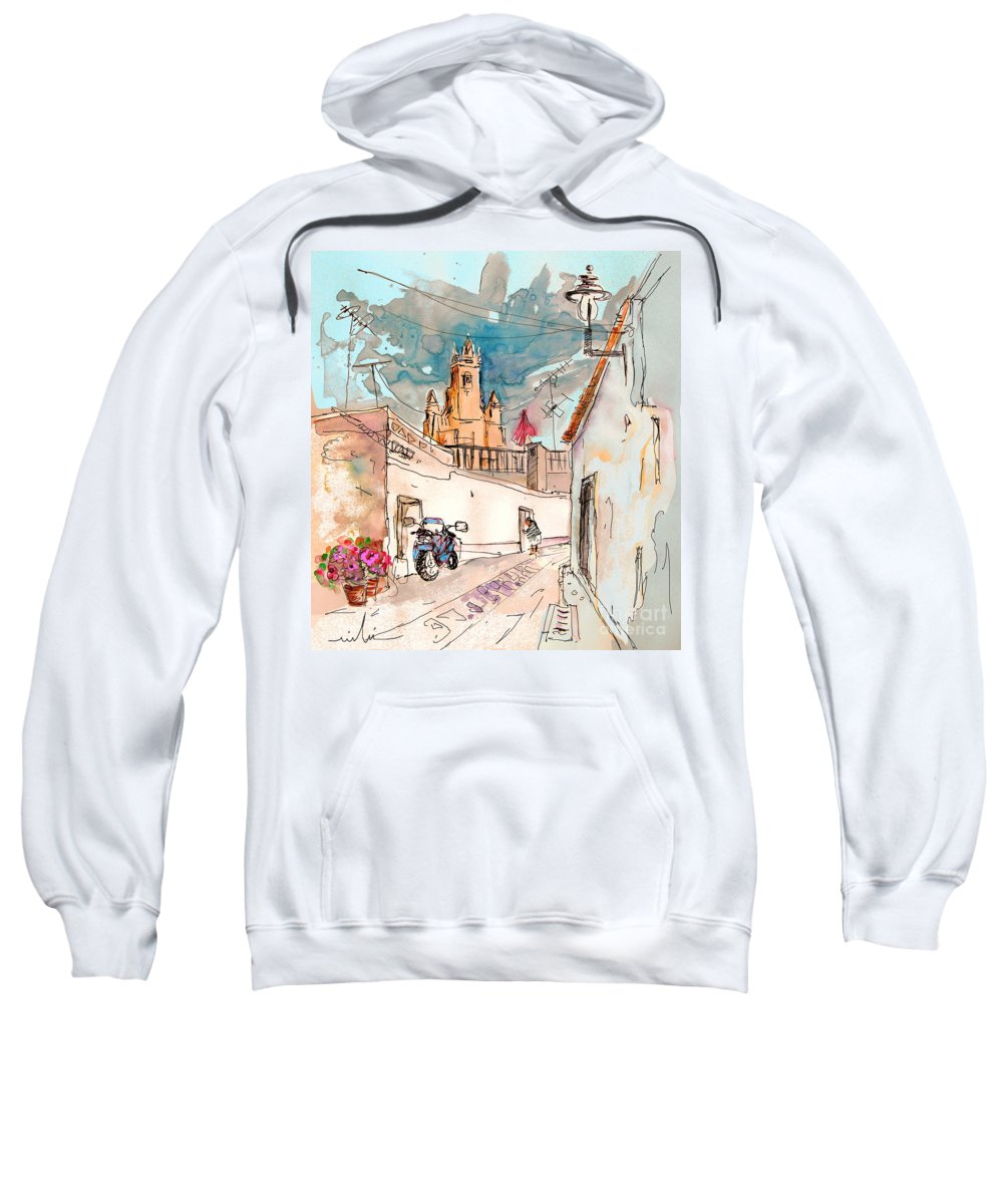 Portugal Paintings Sweatshirt featuring the painting Serpa Portugal 22 by Miki De Goodaboom