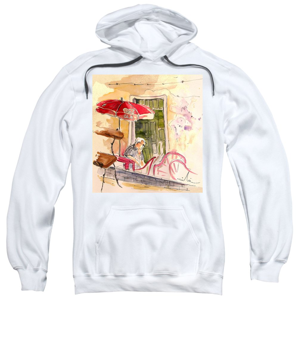Portugal Paintings Sweatshirt featuring the painting Serpa Portugal 23 by Miki De Goodaboom