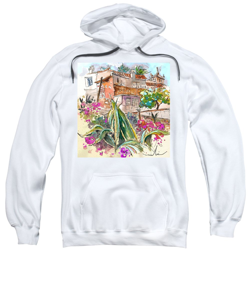 Portugal Paintings Sweatshirt featuring the painting Serpa Portugal 24 by Miki De Goodaboom