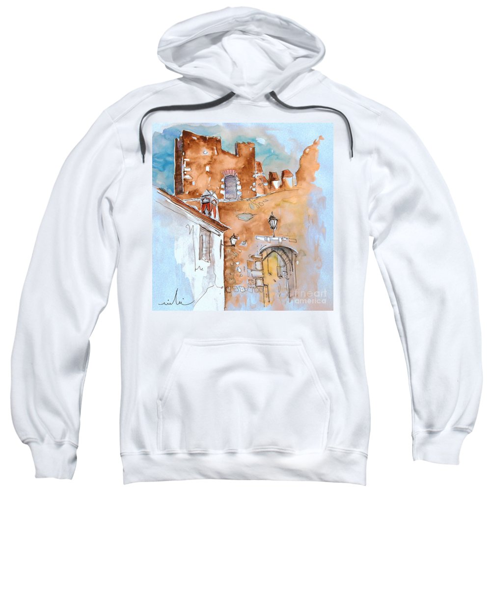 Water Colour Painting Serpa Portugal Sweatshirt featuring the painting Serpa Portugal 29 by Miki De Goodaboom