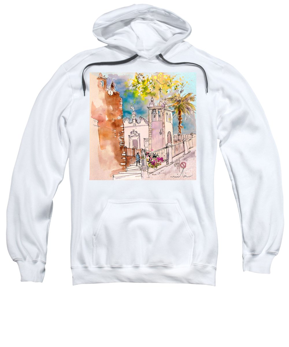 Water Colour Painting Serpa Portugal Sweatshirt featuring the painting Serpa Portugal 31 by Miki De Goodaboom
