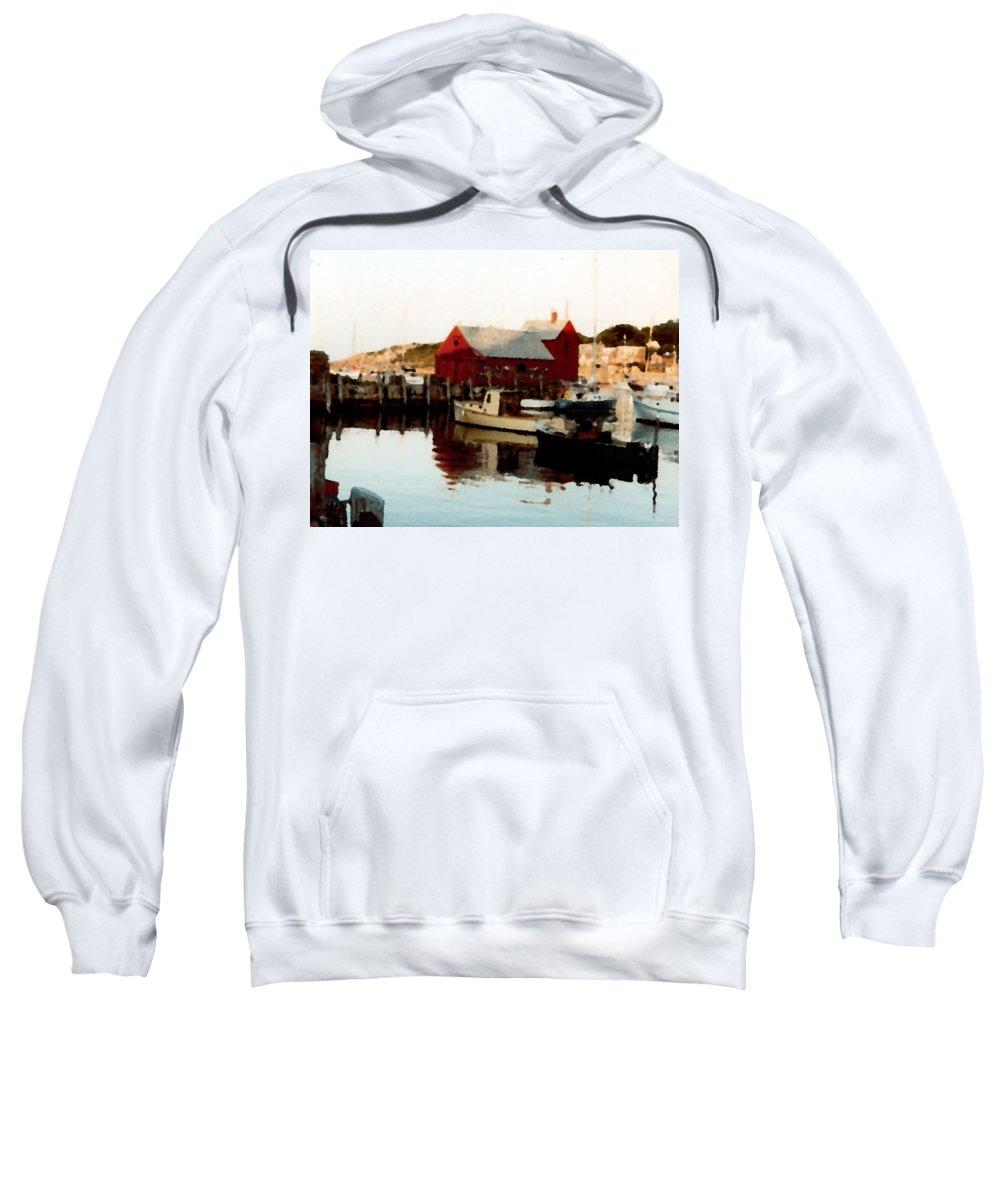 Rockport Sweatshirt featuring the painting Setting Sun by Paul Sachtleben