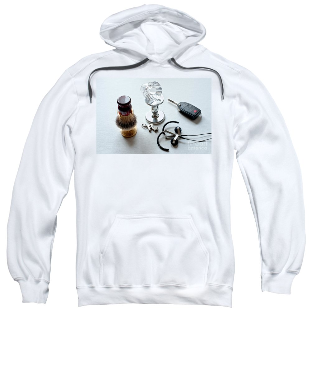 Crystal Candle Holder Sweatshirt featuring the photograph Seven Poducts by Steven Dunn