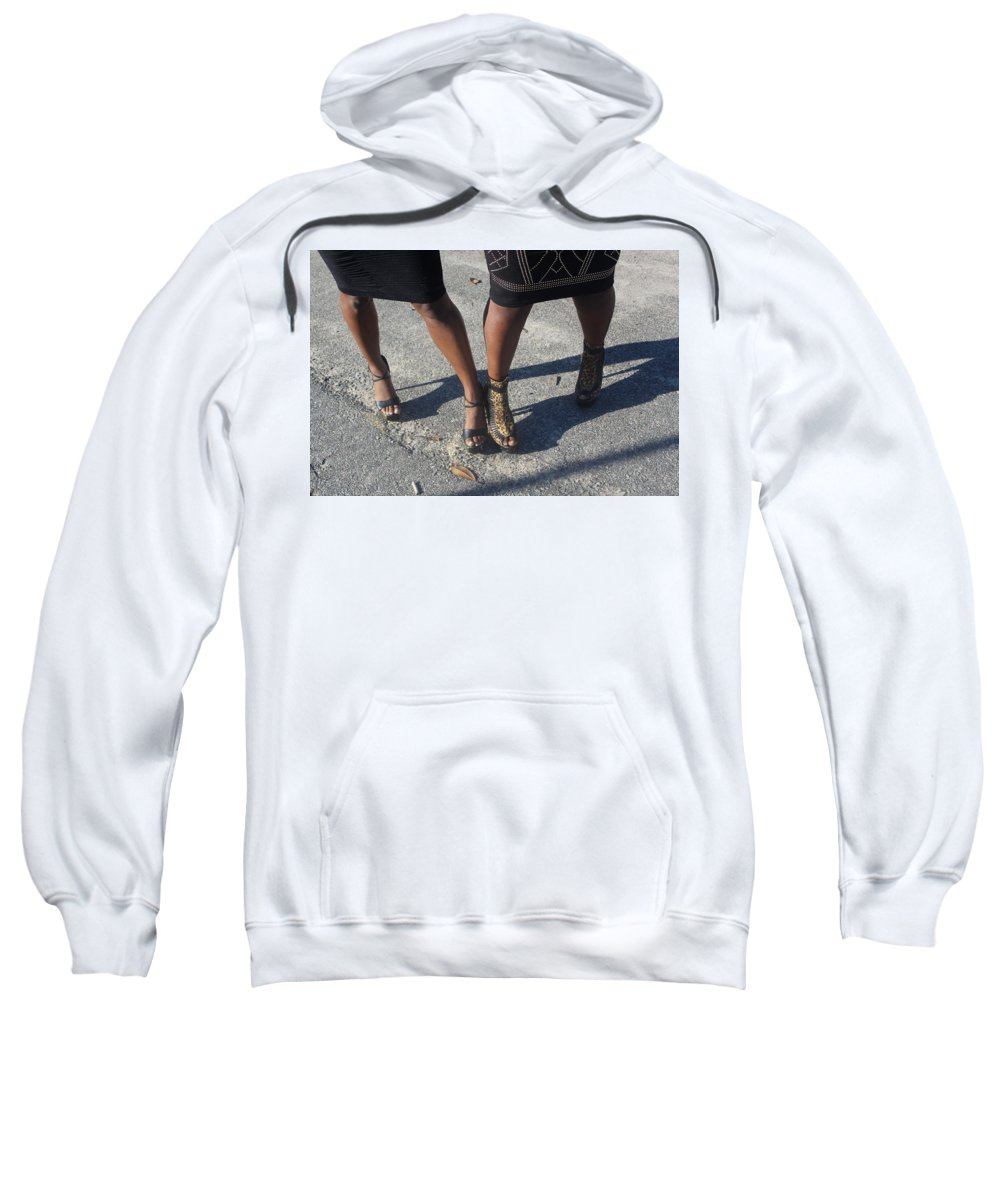 Black Sweatshirt featuring the photograph Sexy Friends 8 by Christopher White