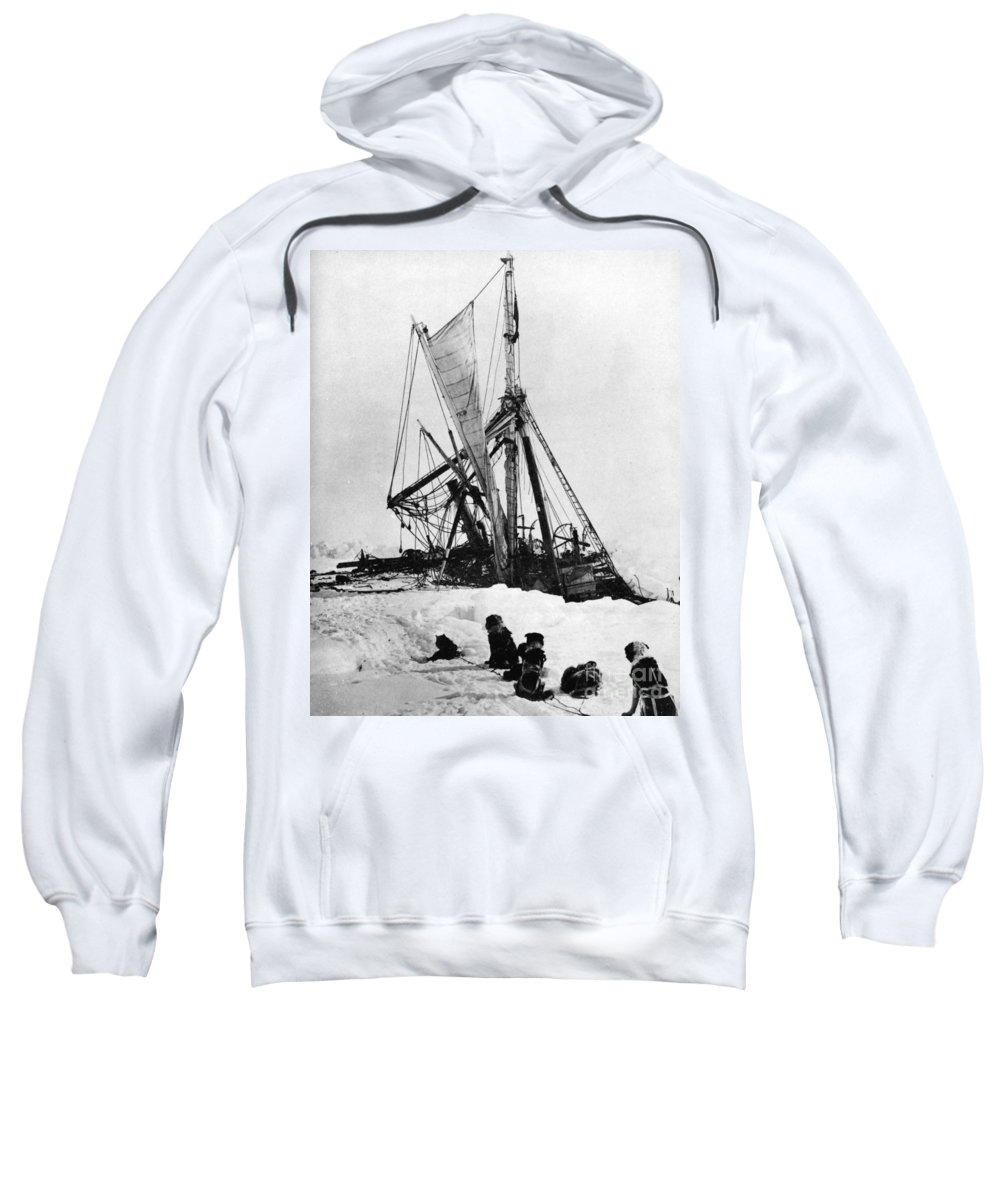 1915 Sweatshirt featuring the photograph Shackletons Endurance by Granger
