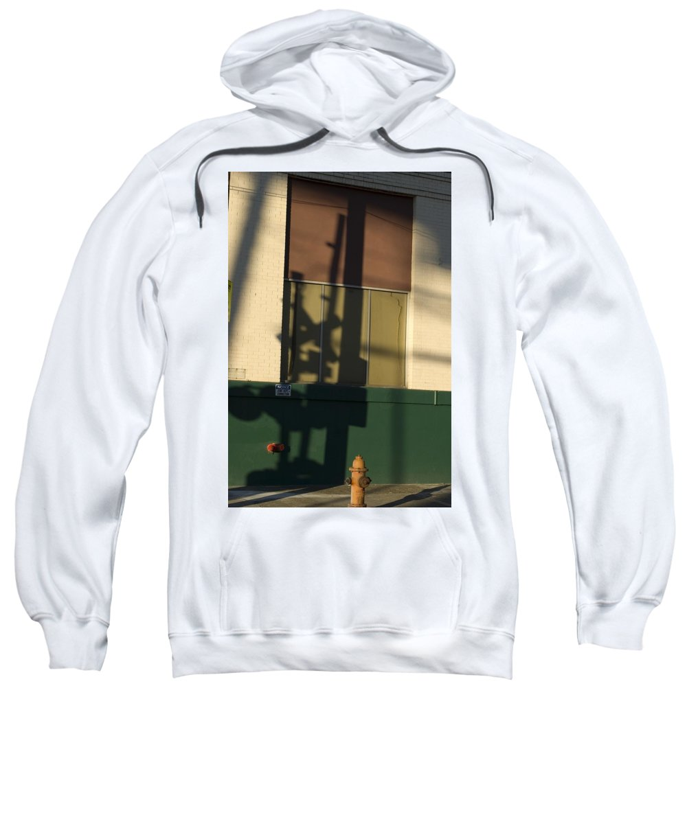 Railroad Crossing Sign Sweatshirt featuring the photograph Shadow by Sara Stevenson