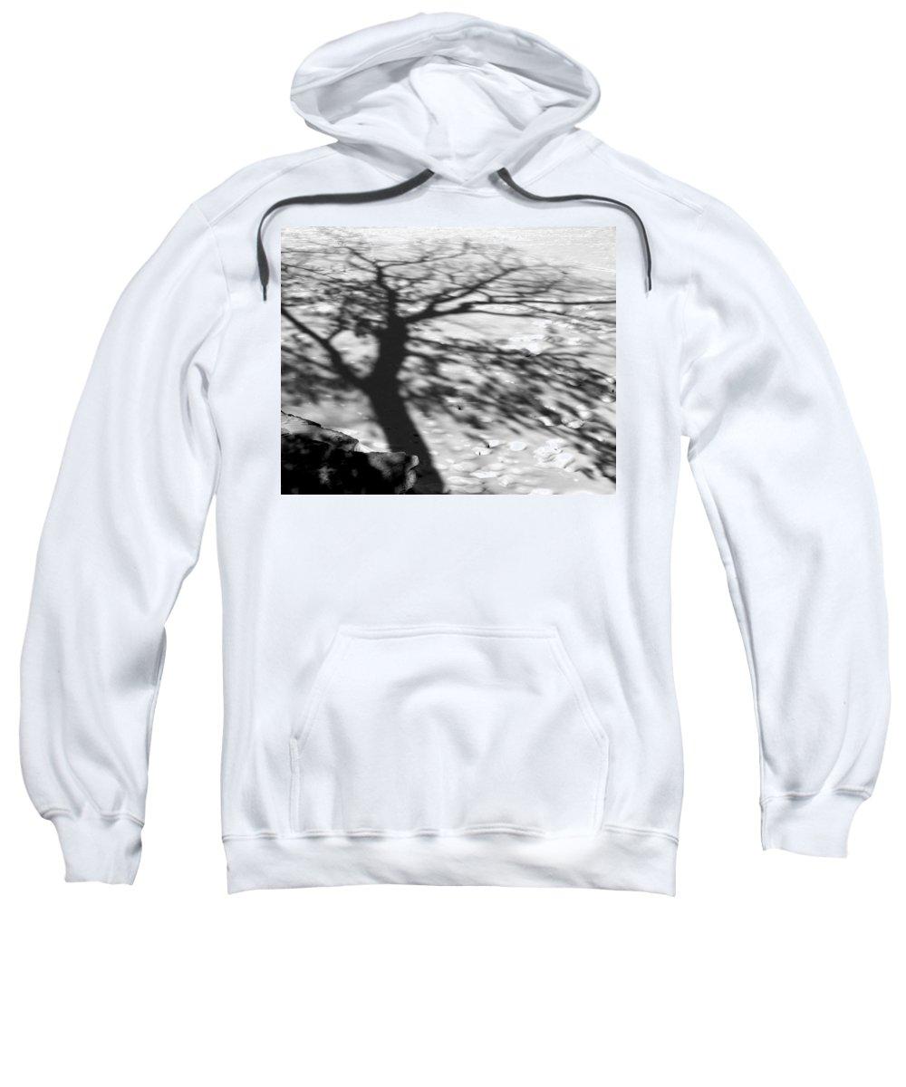 Shadow Sweatshirt featuring the photograph Shadow Tree Herrick Lake Naperville Illinois by Michael Bessler