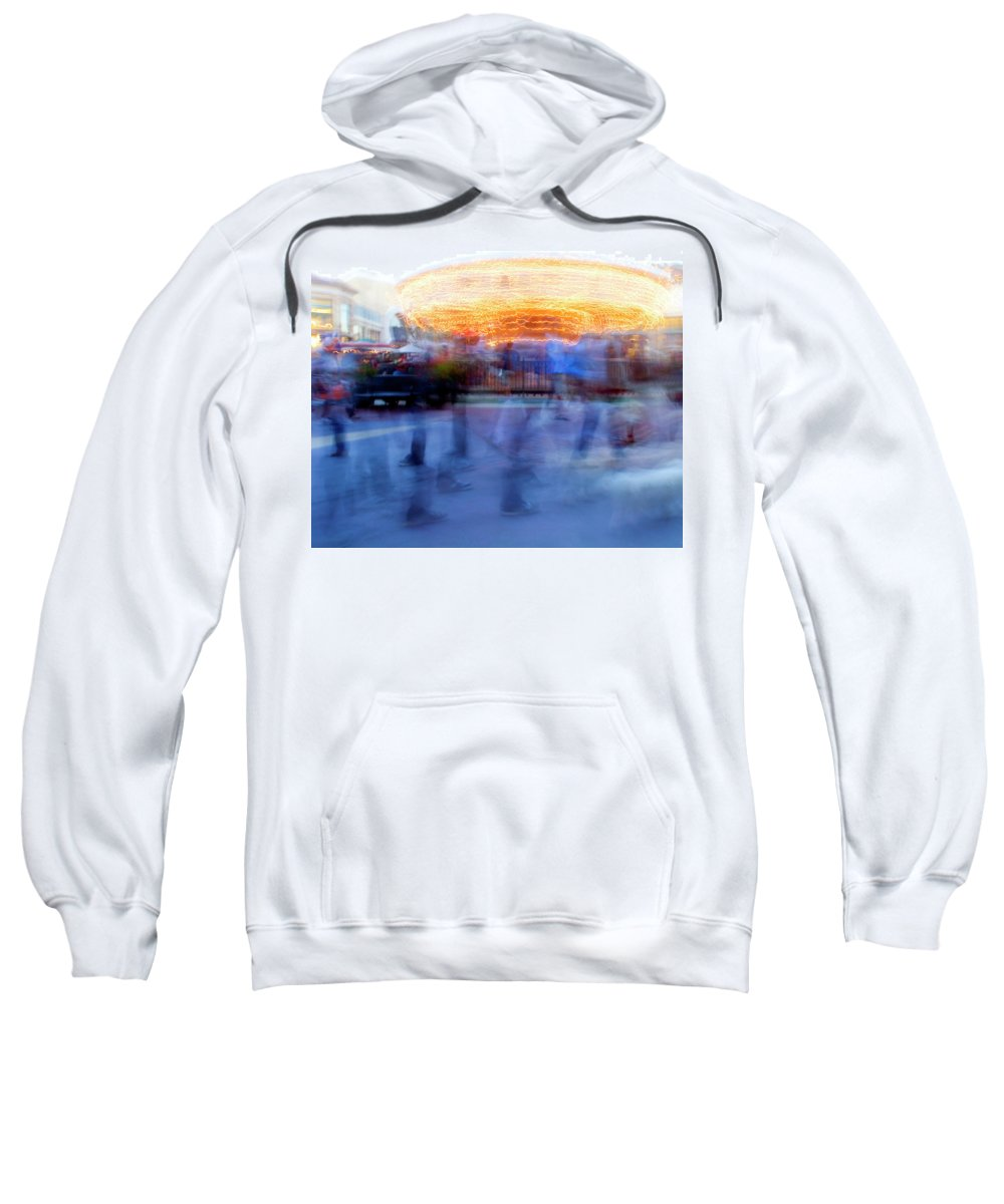 Carousel Sweatshirt featuring the photograph Shadow Walkers by Clay McGurk