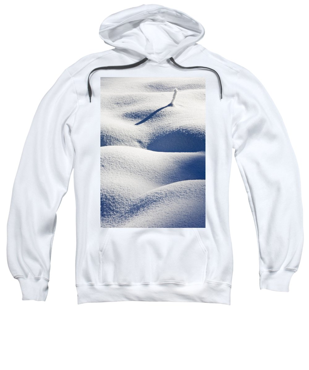Snow Sweatshirt featuring the photograph Shapes Of Winter by Mike Dawson