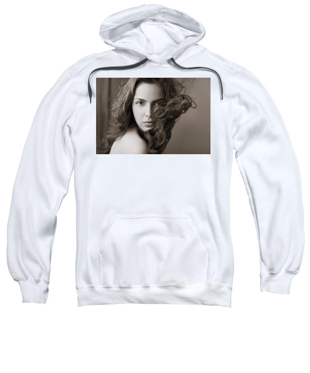 Shazahn Padamsee Sweatshirt featuring the digital art Shazahn Padamsee by Bert Mailer