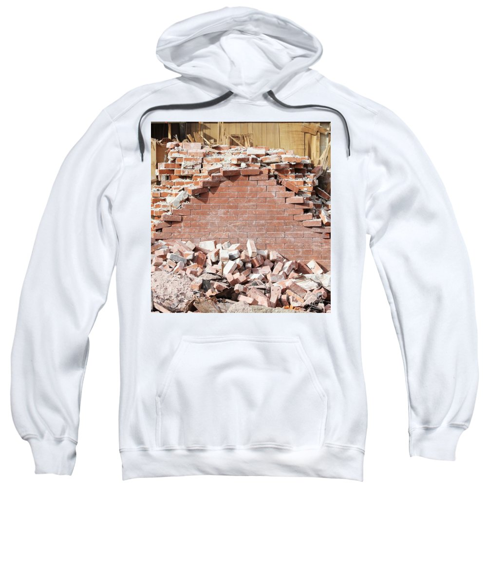 Bricks Sweatshirt featuring the photograph She Cried Mortar by Tammy Miller