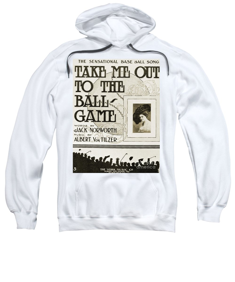 1908 Sweatshirt featuring the photograph Sheet Music: Take Me Out by Granger