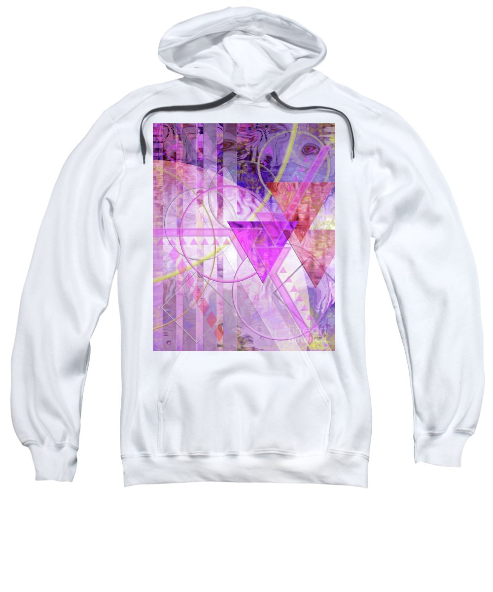 Shibumi Sweatshirt featuring the digital art Shibumi Spirit by John Beck