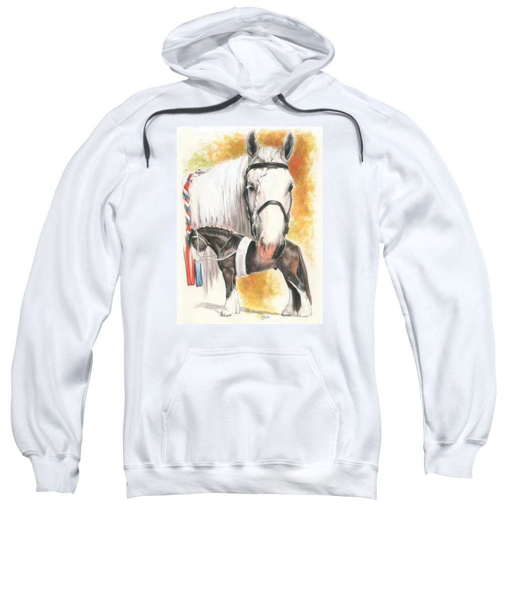 Shire Sweatshirt featuring the mixed media Shire by Barbara Keith
