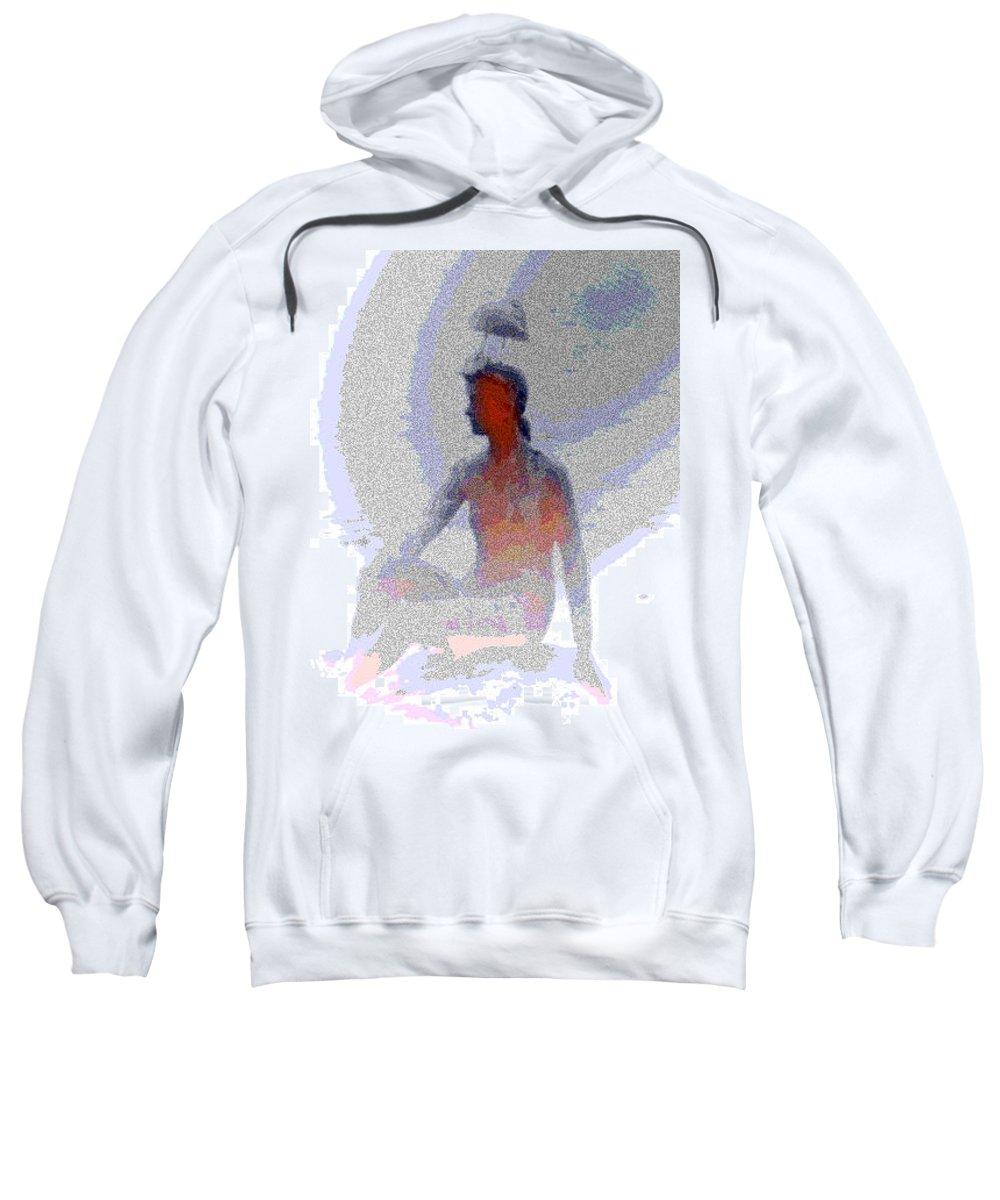 Abstract Sweatshirt featuring the digital art Shorebird Resting by Lenore Senior