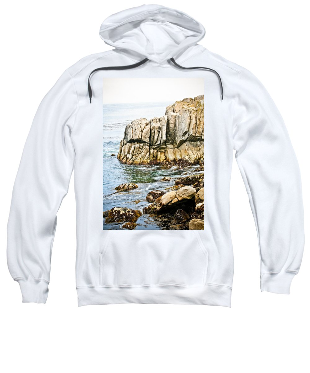 Pebble Beach Sweatshirt featuring the photograph Shores Of Pebble Beach by Marilyn Hunt