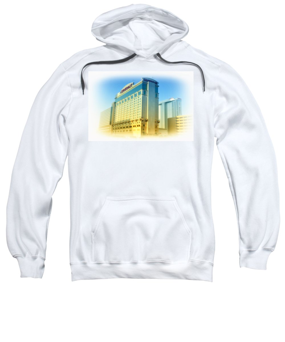 Showboat Sweatshirt featuring the photograph Showboat Casino - Atlantic City by Bill Cannon