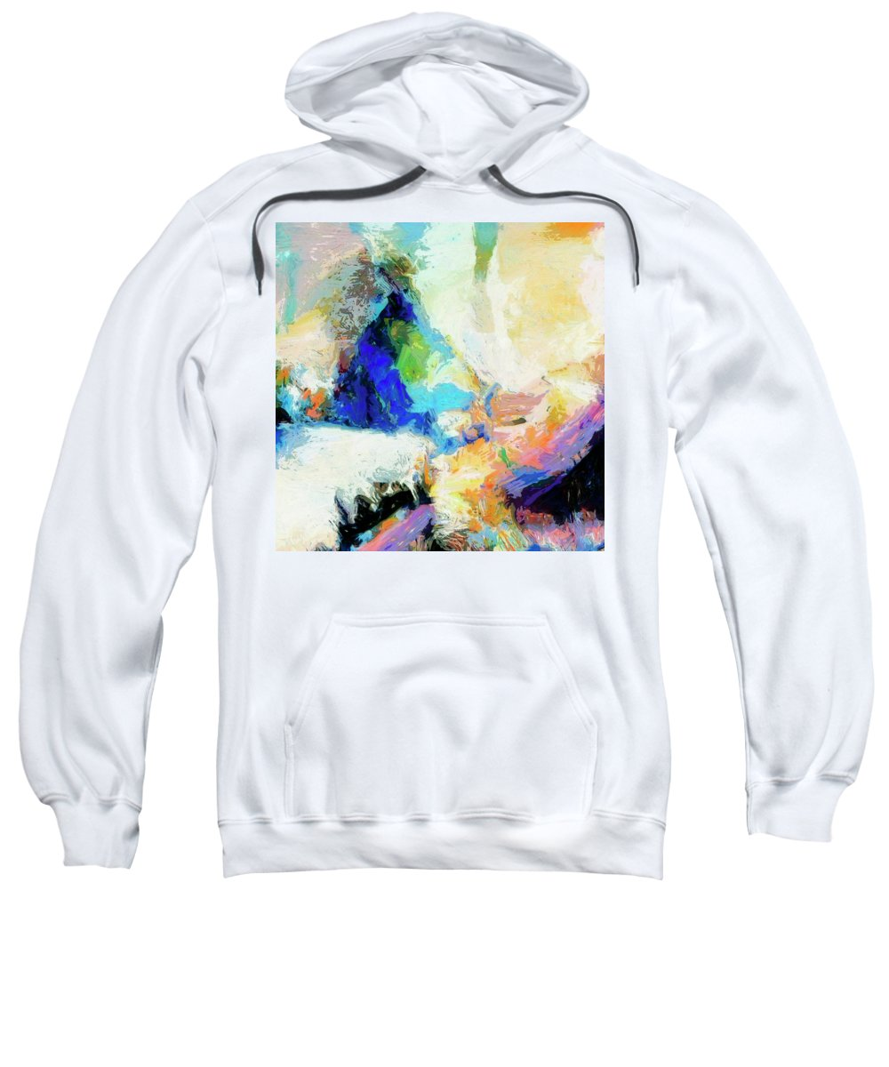 Abstract Sweatshirt featuring the painting Shuttle by Dominic Piperata