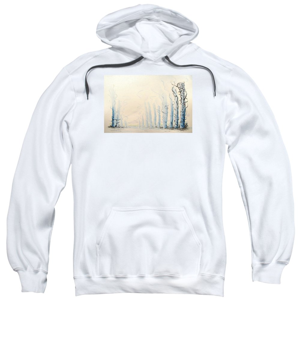 Watercolor Sweatshirt featuring the painting Signals by Dave Martsolf