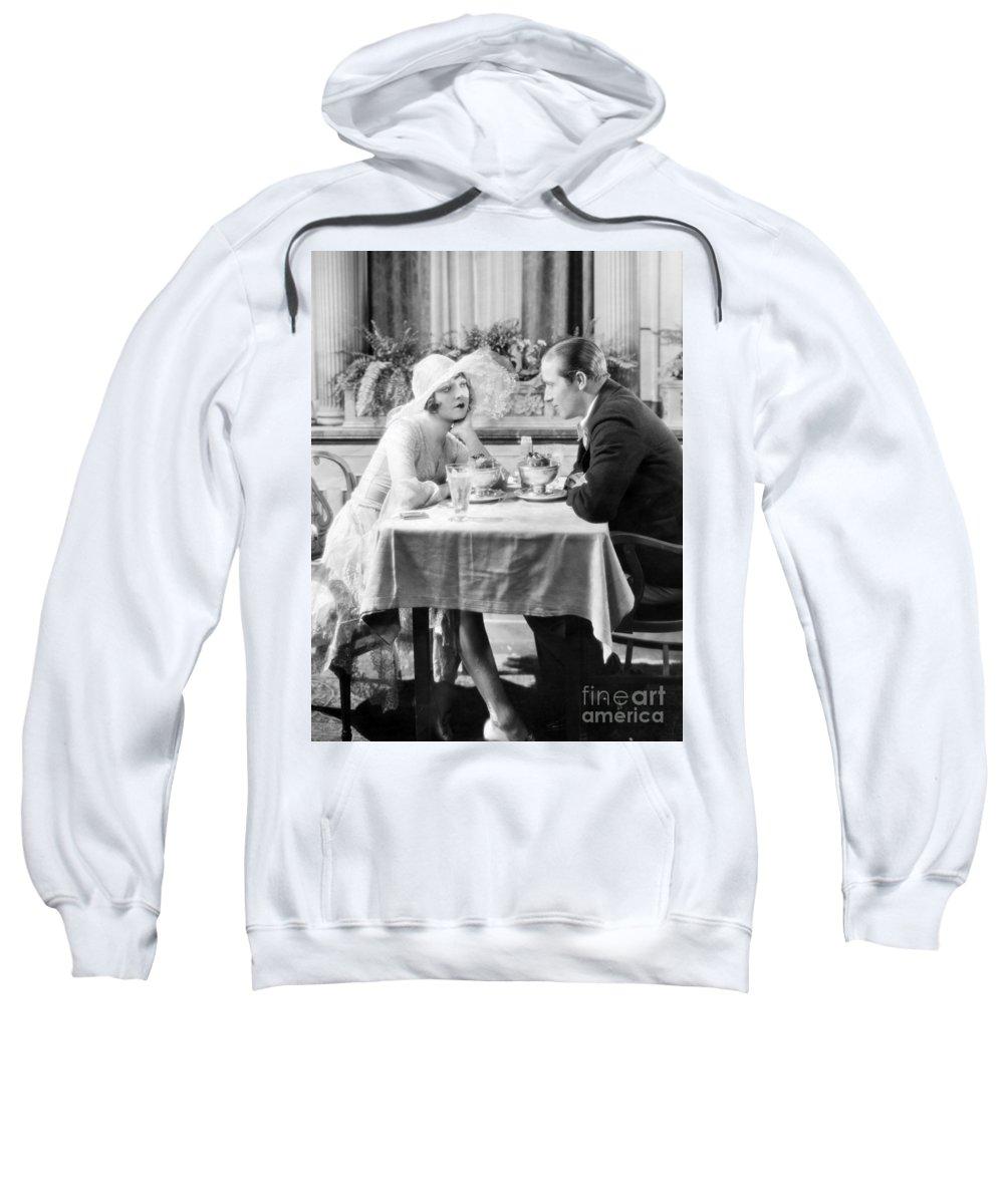 -eating Restaurants- Sweatshirt featuring the photograph Silent Film: Restaurants by Granger