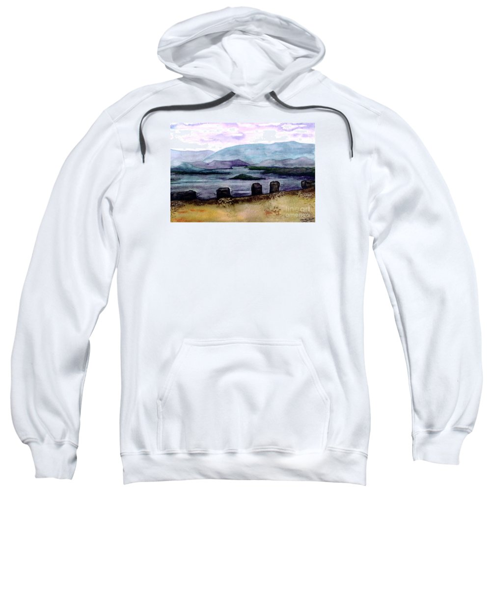 Original Painting Sweatshirt featuring the painting Silent Sentinels by Patricia Griffin Brett