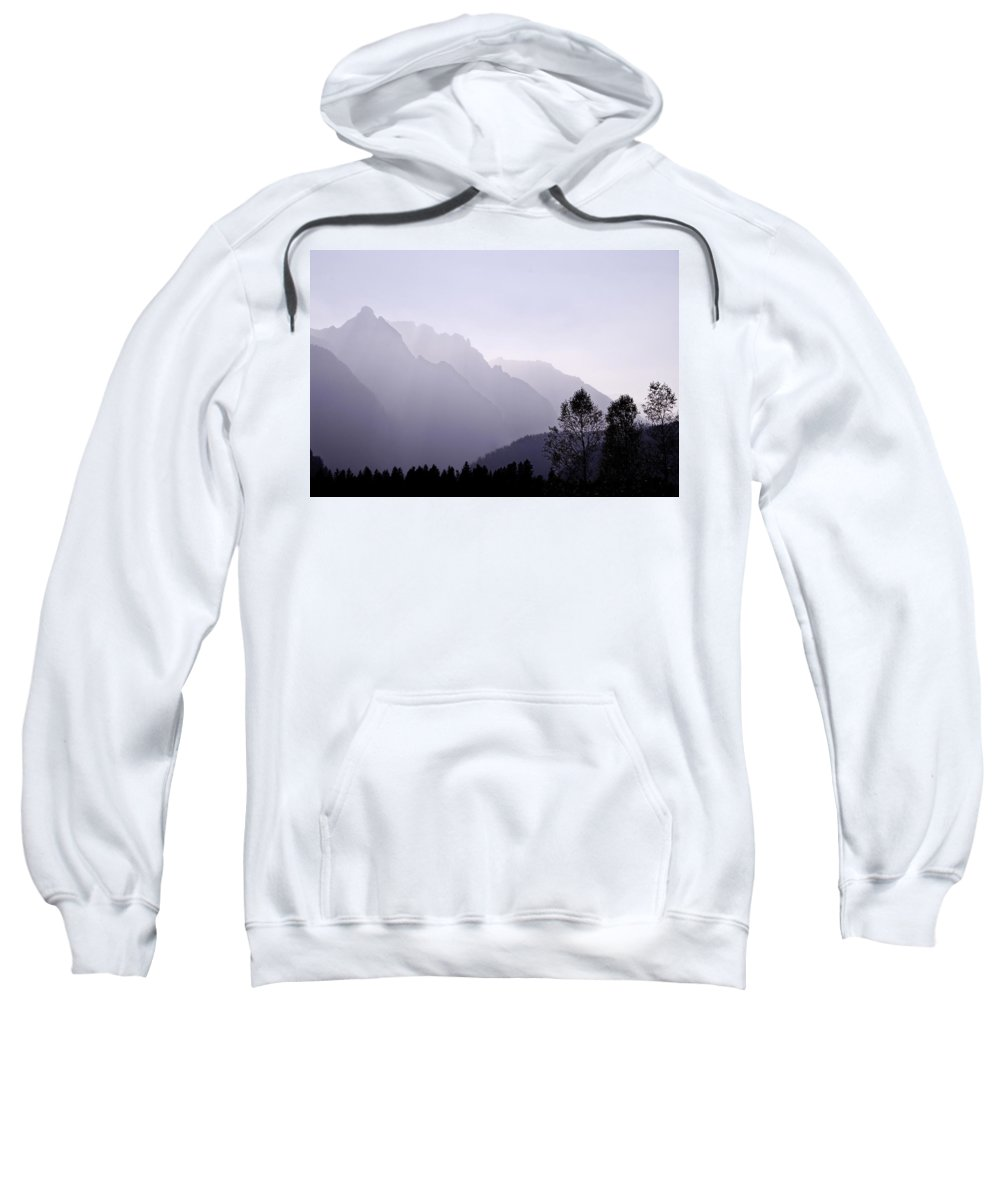 Mountain Silhouette Sweatshirt featuring the photograph Silhouette Austria Europe by Sabine Jacobs