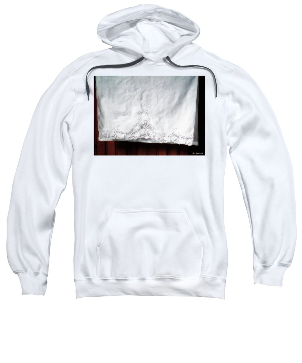 Bedding Sweatshirt featuring the painting Simple Elegance by RC DeWinter