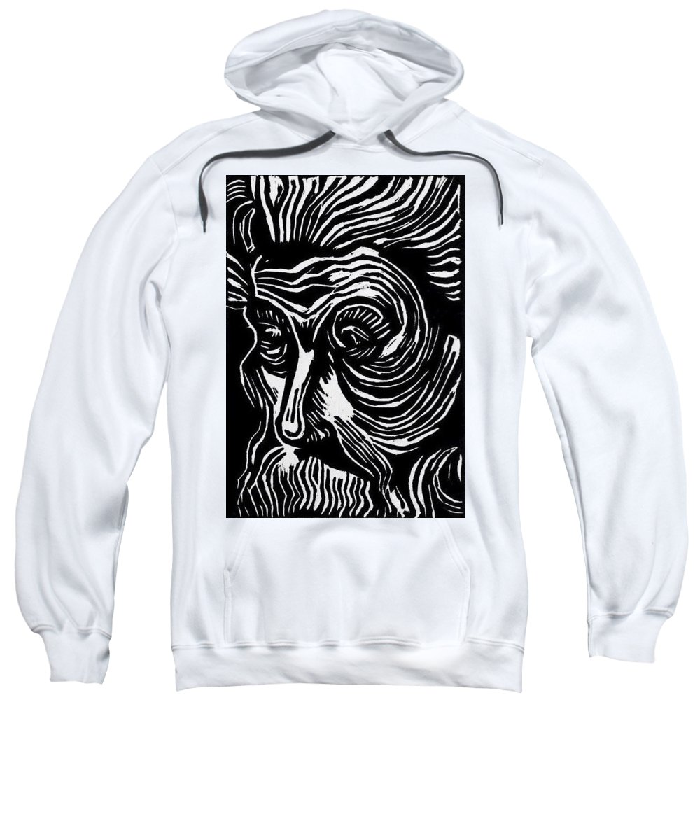 Printmaking Sweatshirt featuring the mixed media Sin Nombre by Paulina Garza Martinez