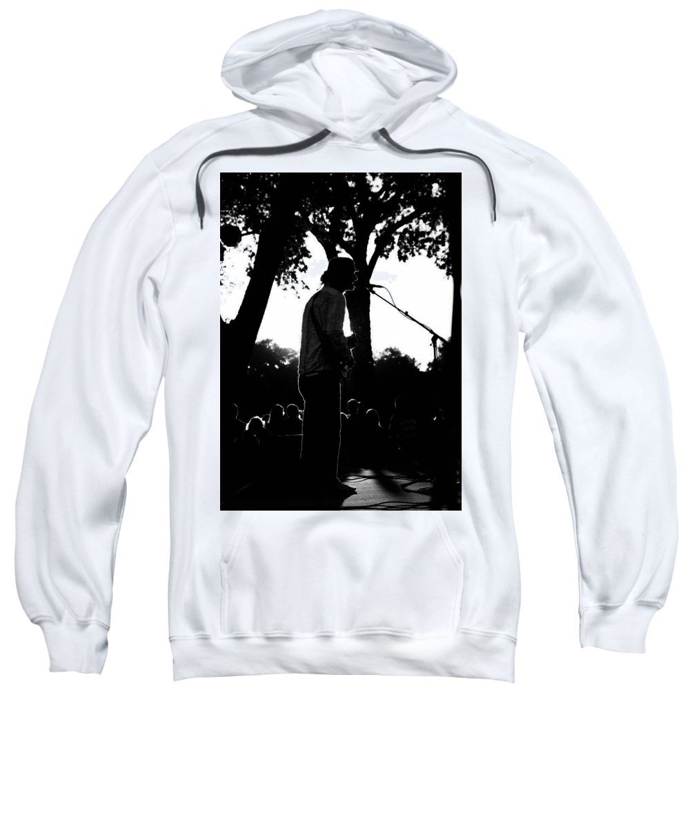 Sweatshirt featuring the photograph Singing In The Contrast Sunset Light by Anthony Dooley