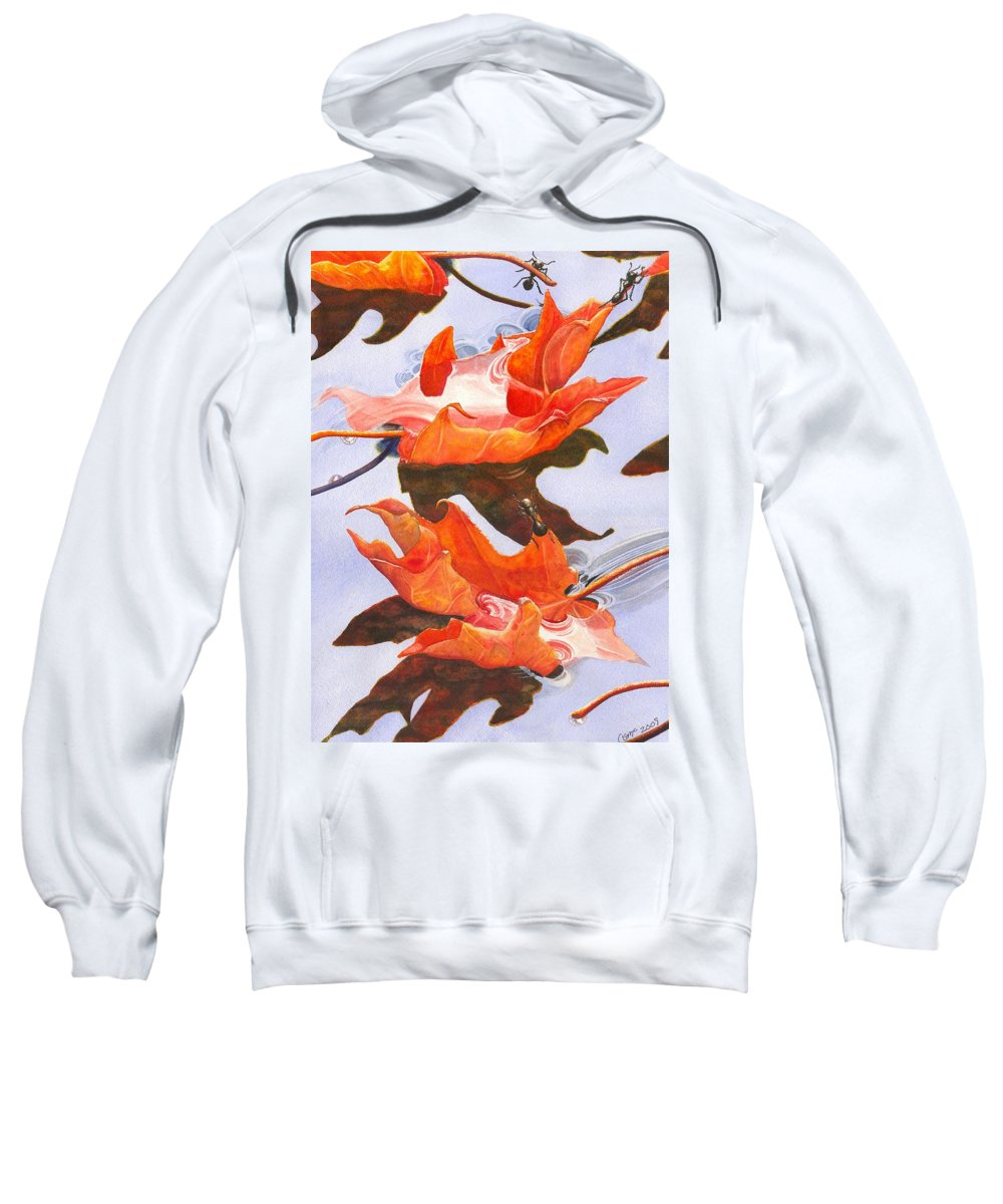 Leaf Sweatshirt featuring the painting Sinking Feeling by Catherine G McElroy
