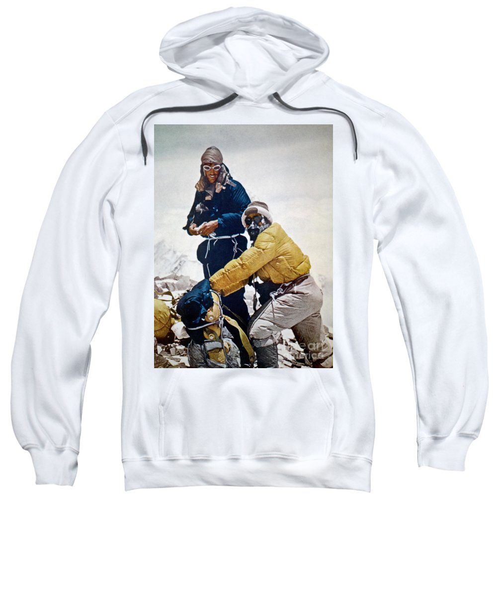 1953 Sweatshirt featuring the painting Sir Edmund Hillary by Granger