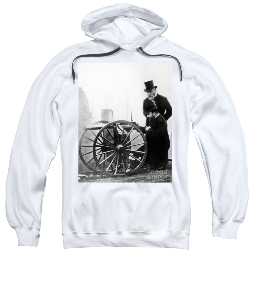 1900 Sweatshirt featuring the photograph Sir Hiram Stevens Maxim by Granger