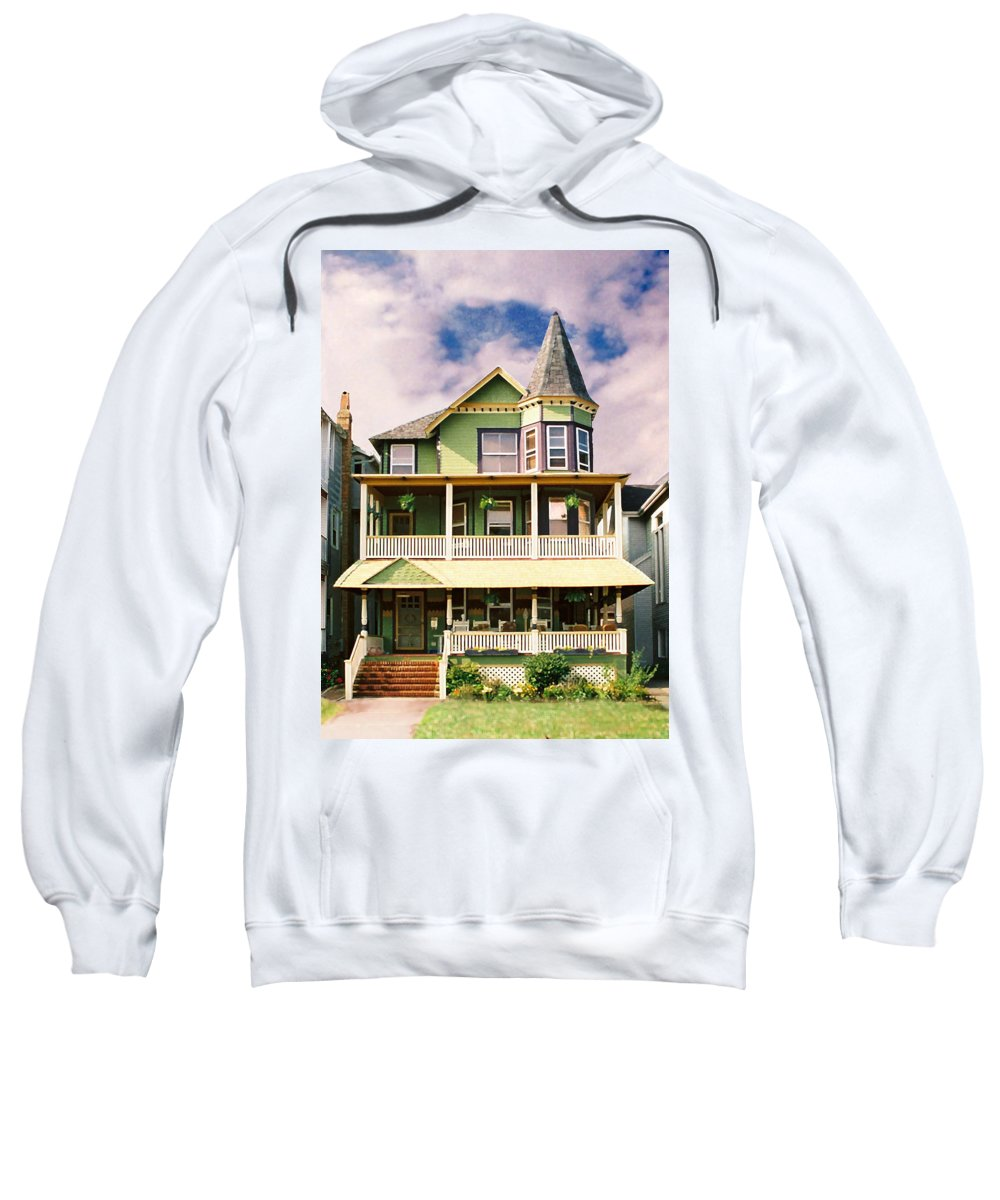 Archtiecture Sweatshirt featuring the photograph Sisters Panel 1 Of Triptych by Steve Karol