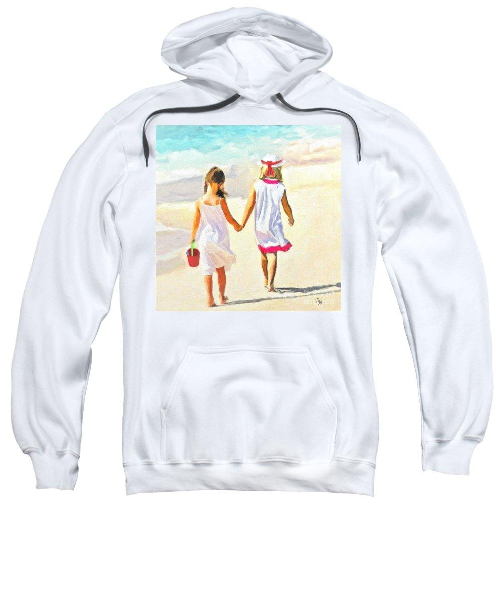 Girls Sweatshirt featuring the Sisters by Tammy Lee Bradley