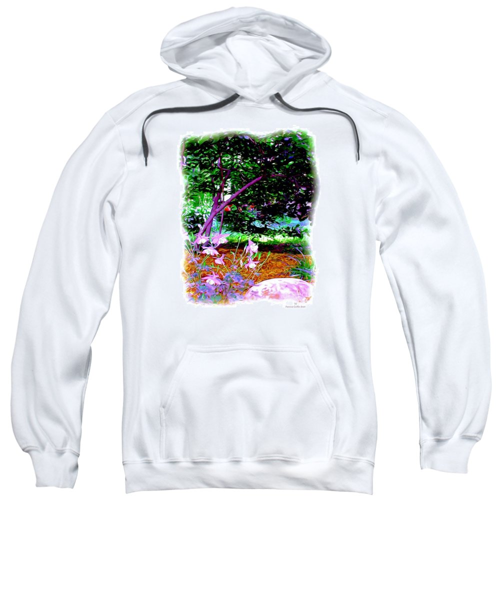 Fine Art Sweatshirt featuring the painting Sitting In The Shade by Patricia Griffin Brett