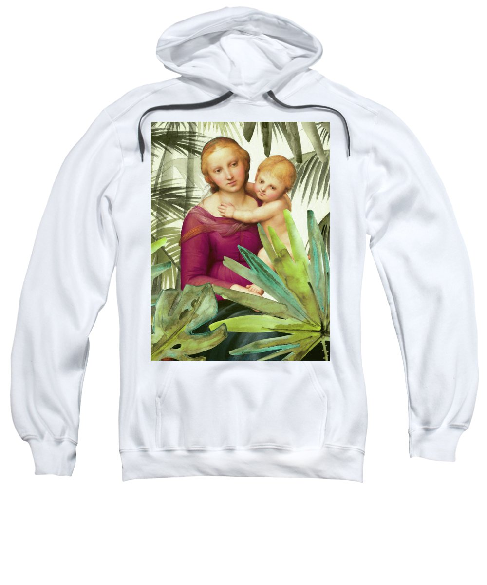 #art #painting #ricki #mountain #home #decor #shop Sweatshirt featuring the painting Sitting Pretty by Ricki Mountain