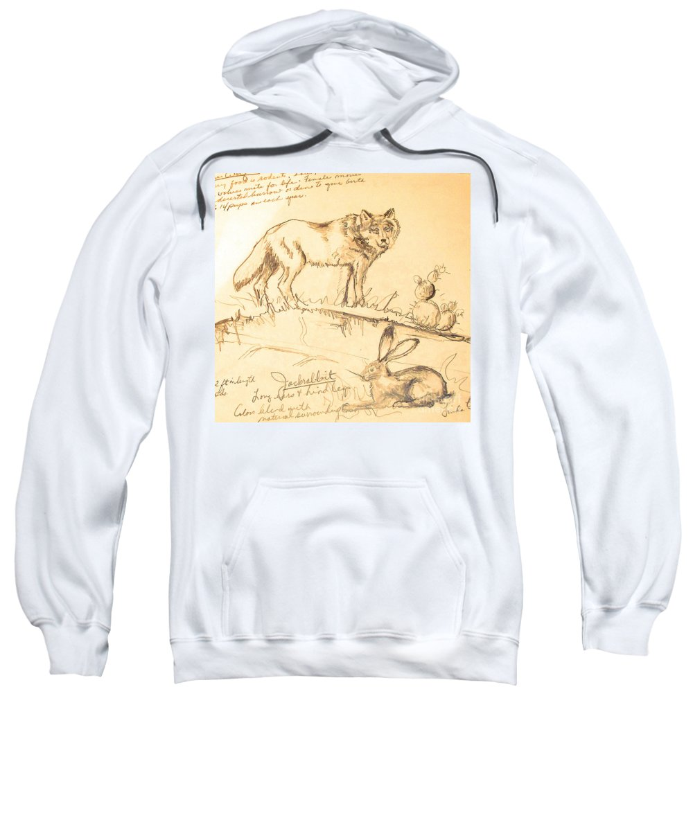 Sketches Sweatshirt featuring the drawing Sketches For Sale by Linda Shackelford